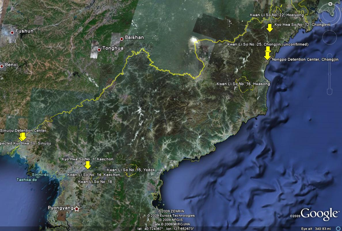 North Koreas Largest Concentration Camps On Google Earth