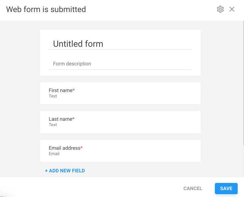 Create your own webform