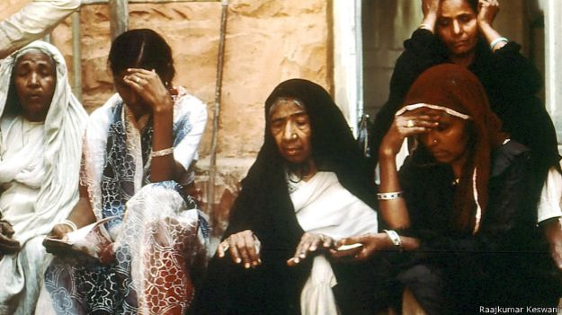 भोपाल गैस त्रासदी, मुस्लिम महिला