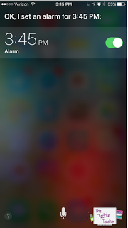 Siri can set alarms for you