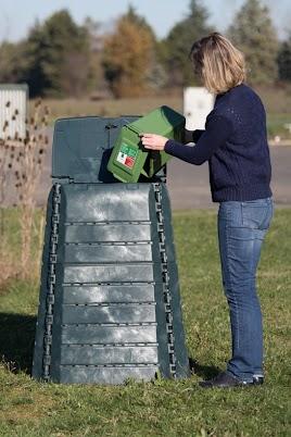 Composteur en plastique recyclé de 450 litres