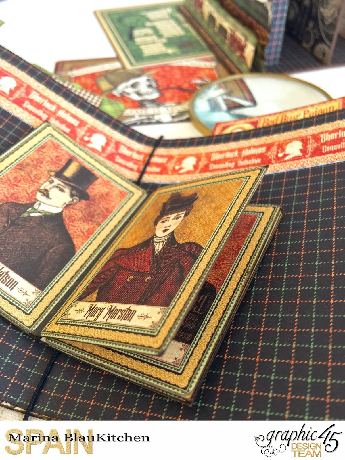 Stand and Mini Album Master Detective by Marina Blaukitchen Product by Graphic 45 photo 20.jpg