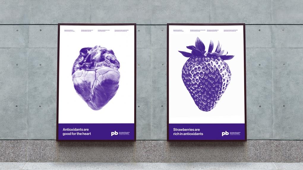 Pennington Biomedical Posters Heart & Strawberry