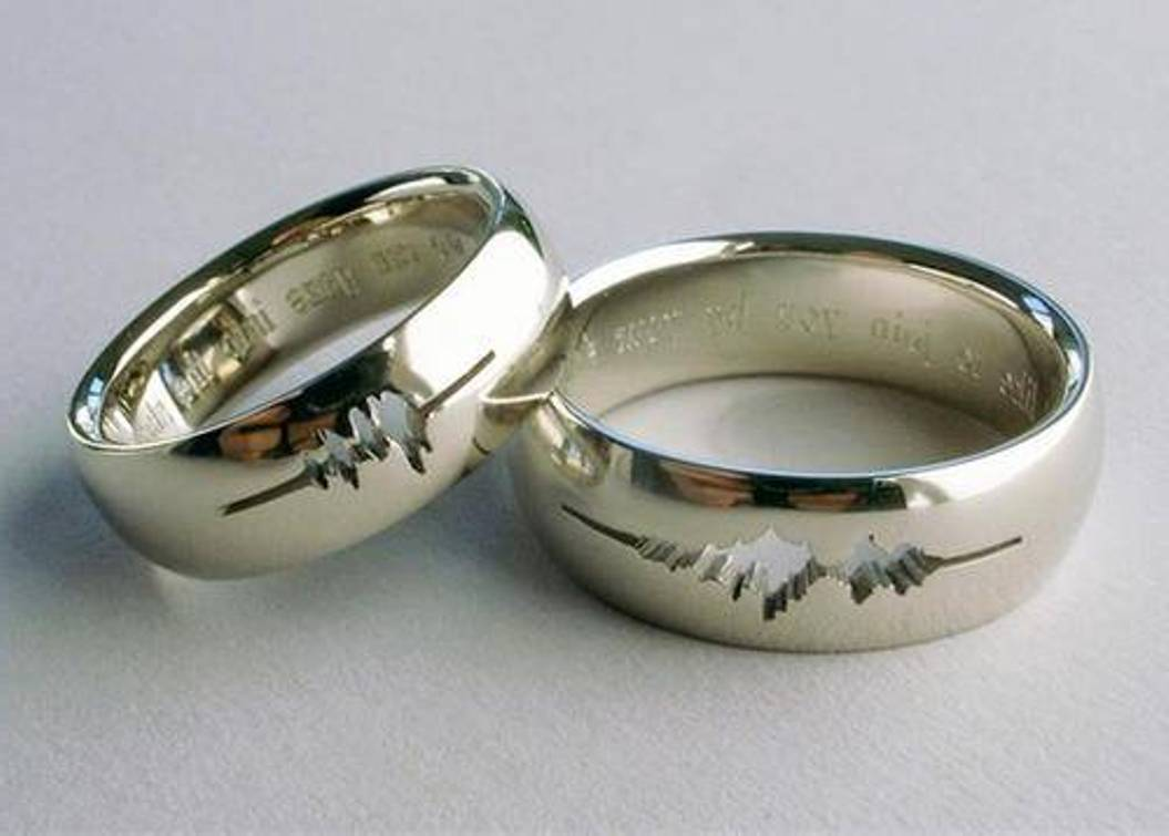 The Tradition Of Engraving Romantic Verses Onto Wedding Rings Finds Its  Roots In The Courts Of Ancient Europe. Today, Inscribing A Message On The  Inside Of ...