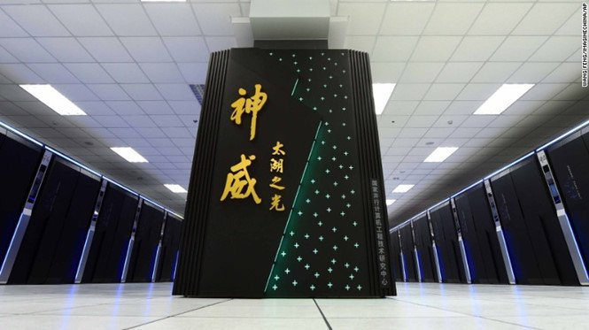 Siêu máy tính Sunway Tahulight của Trung Quốc hiện nhanh nhất thế giới với tốc độ 93 petaflops.