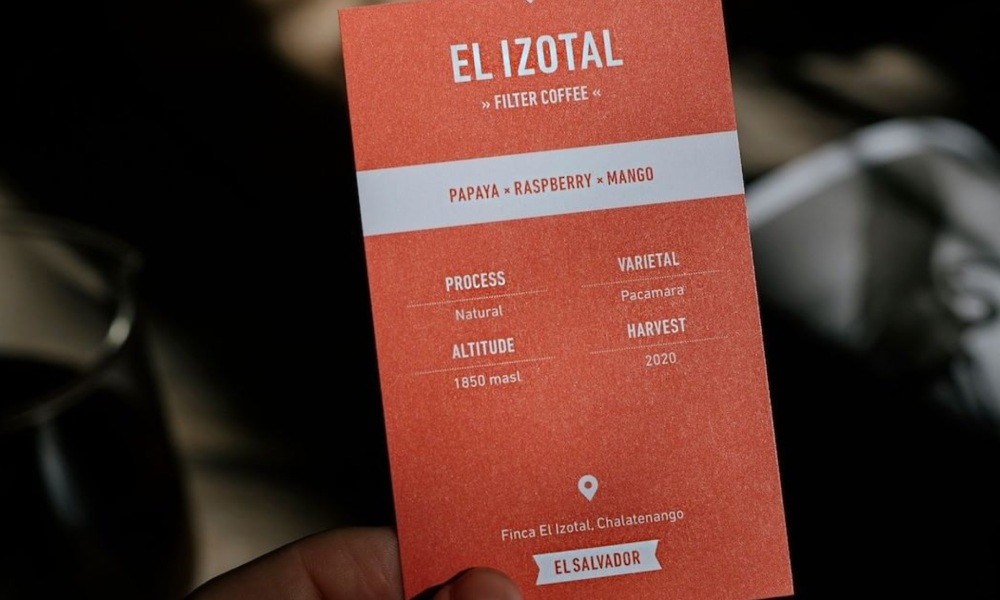 tasting cards for filter coffee