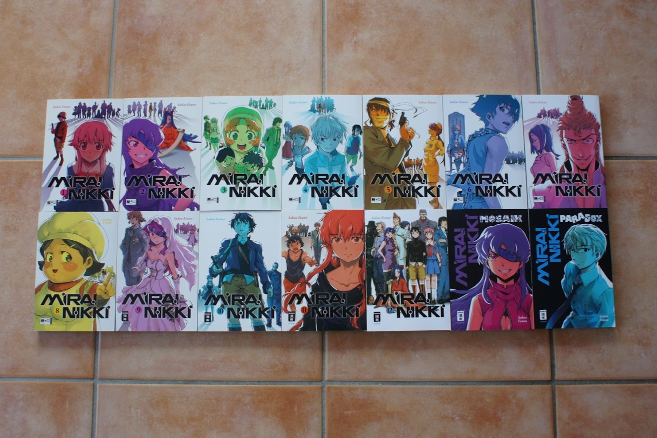 EMA Manga Mirai Nikki 1, 2, 3, 4, 5, 6, 7, 8, 9 ,10, 11, 12, Paradox Mosaik
