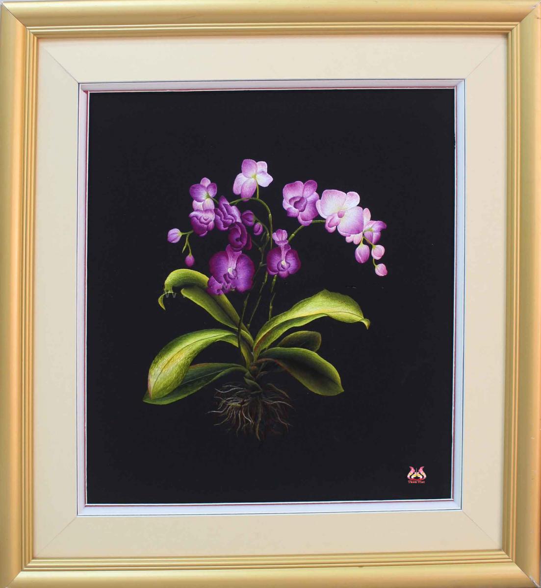 Tranh thêu hoa lan và ý nghĩa đặc biệt trong phong thủy 8