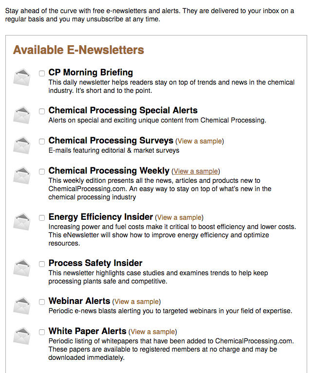 Chemical Processing B2b Email Newsletters.png