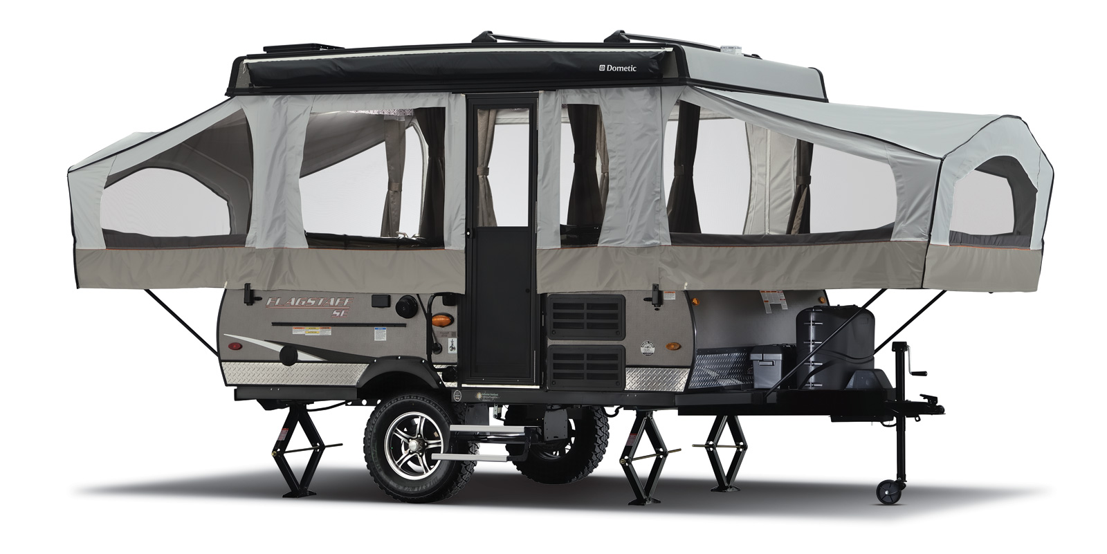 Forest River Flagstaff Sports Enthusiast Package family pop up camper that can handle some dirt roads budget friendly
