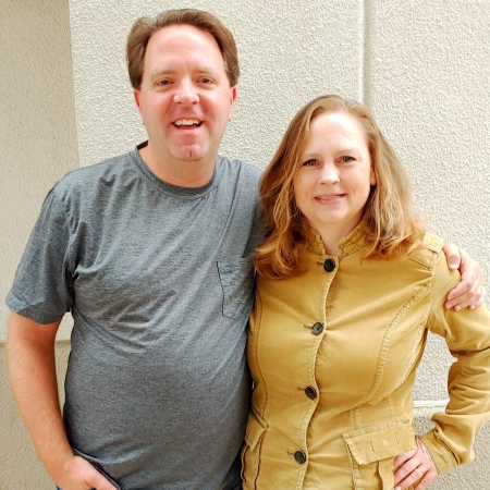 """Certified professional organizer Katherine Lawrence with Matt Paxton from A&E's """"Hoarders"""""""