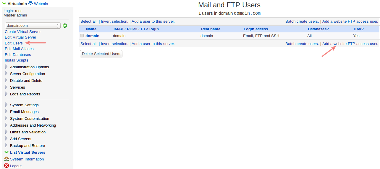 How to create an FTP account? - Knowledgebase - LeapSwitch