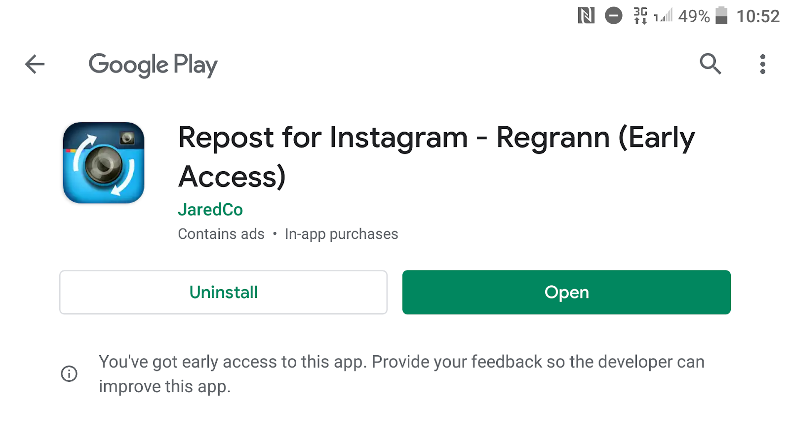 Regrann install