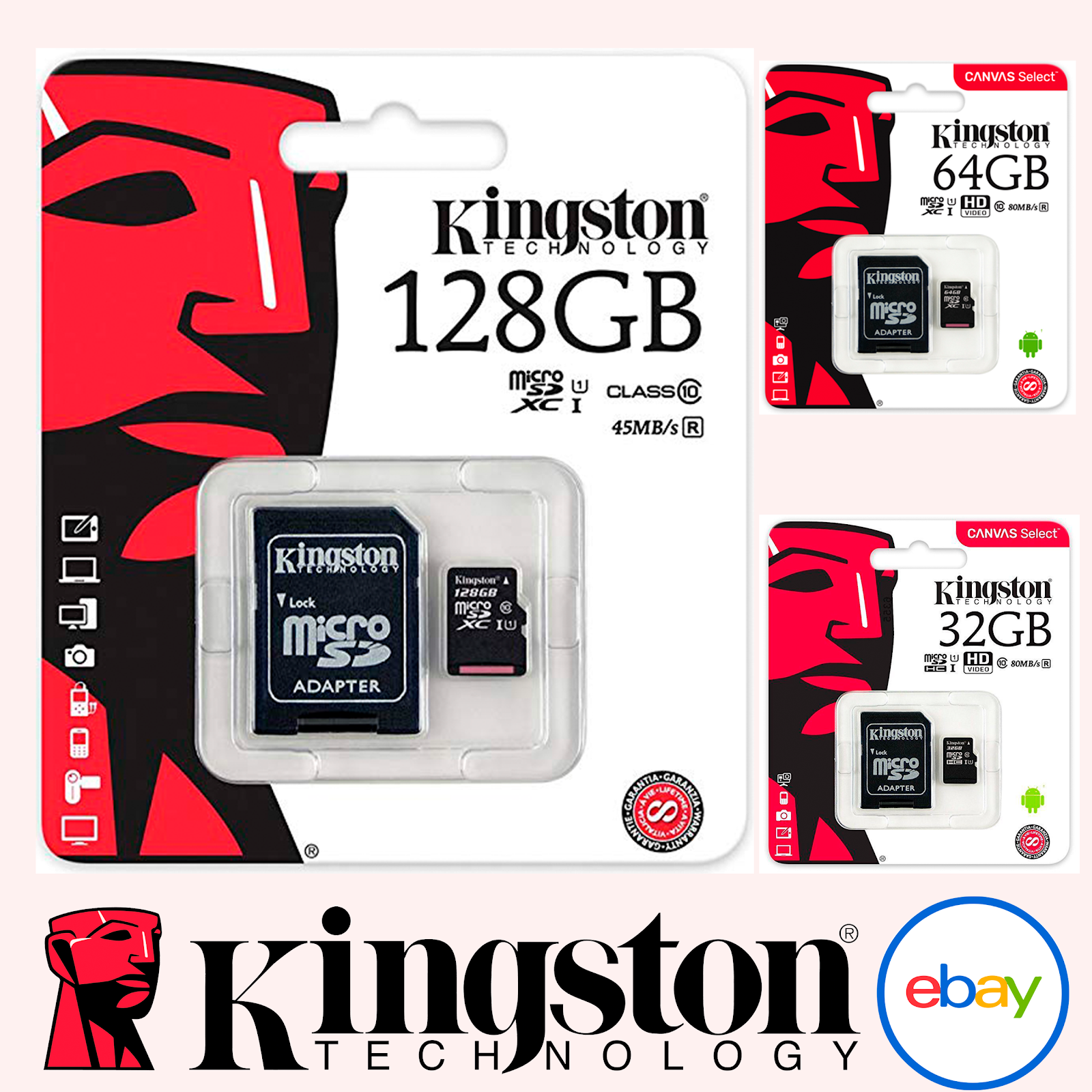 16 Gigabyte SDHC Class 4 Certified Card for Spice Mobile M-6450 Metal Phone with custom formatting and Standard SD Adapter. Professional Kingston MicroSDHC 16GB
