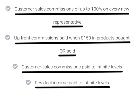 EnerSource's Compensation Plan 2 explanation on their Up Front Commissions