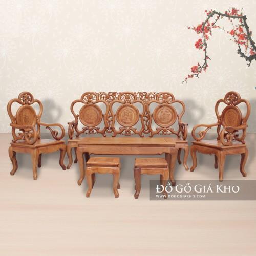 Bàn ghế gỗ guột nho - BG032
