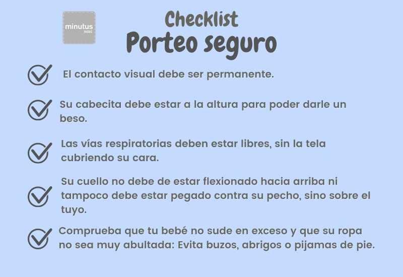 checklist porteo de bebe