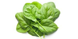 spinach good source of iron for hair growth