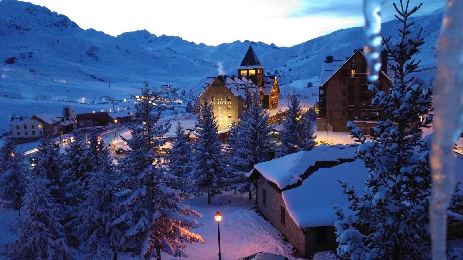 Así luce el hotel Saliecho 4* en invierno