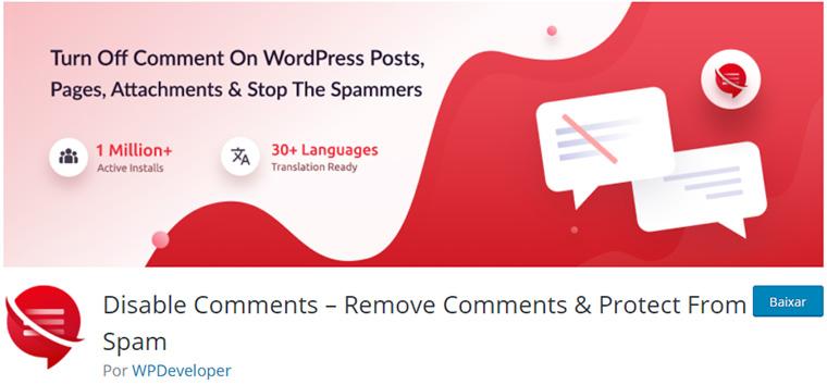 plugin disable comments