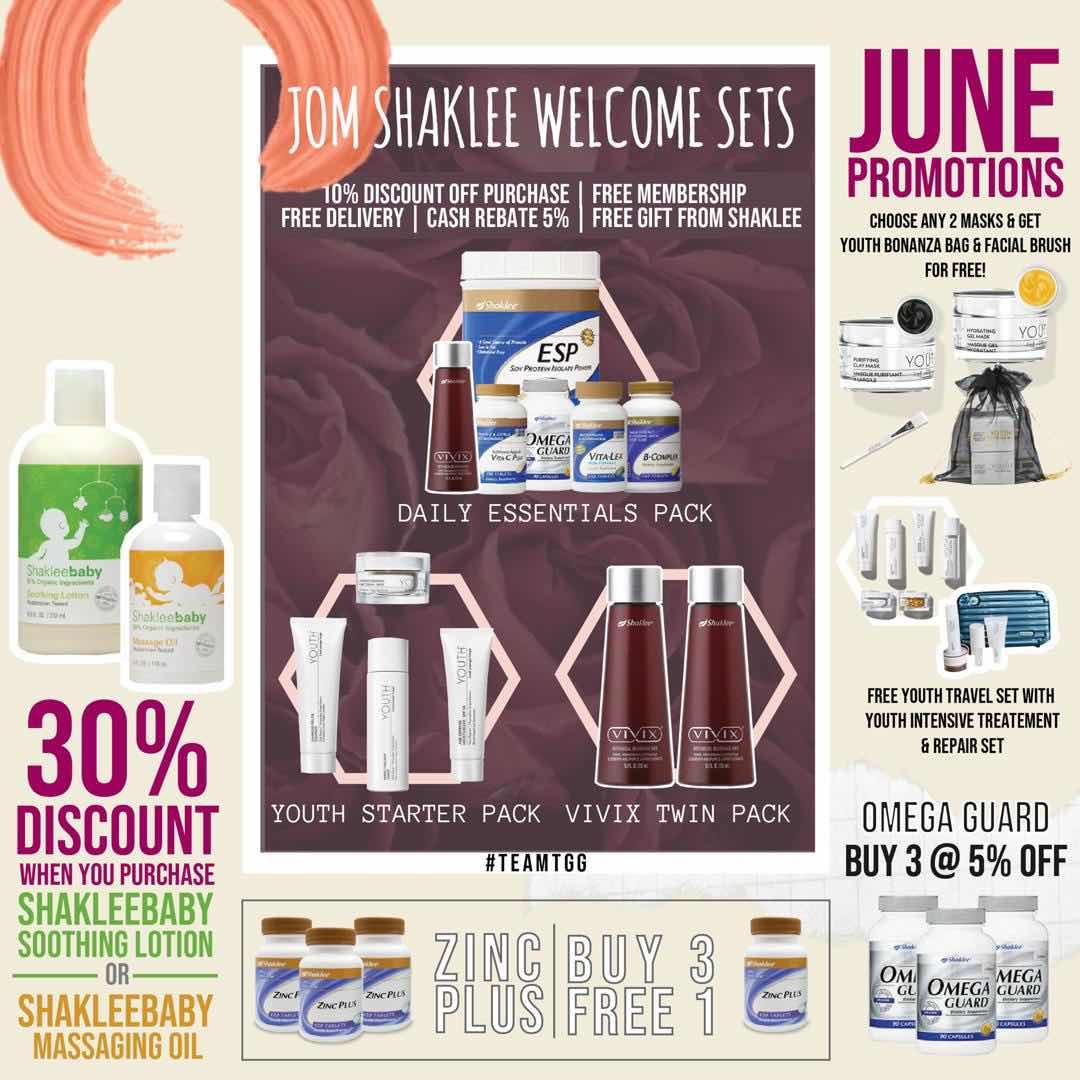 promosi shaklee jun- shaklee murah - shaklee taman melati - jom shaklee kempen - promosi omega guard - minyak ikan - zinc plus