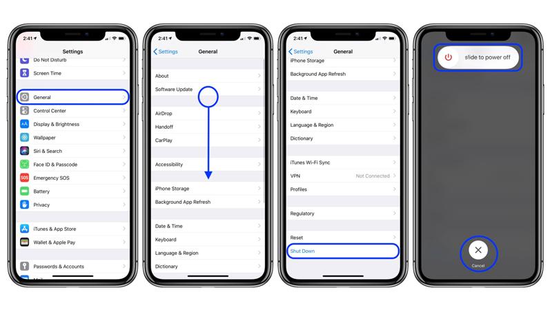 cach-tat-nguon-iphone Làm thế nào để bật và tắt nguồn iPhone khi nút nguồn bị hỏng?