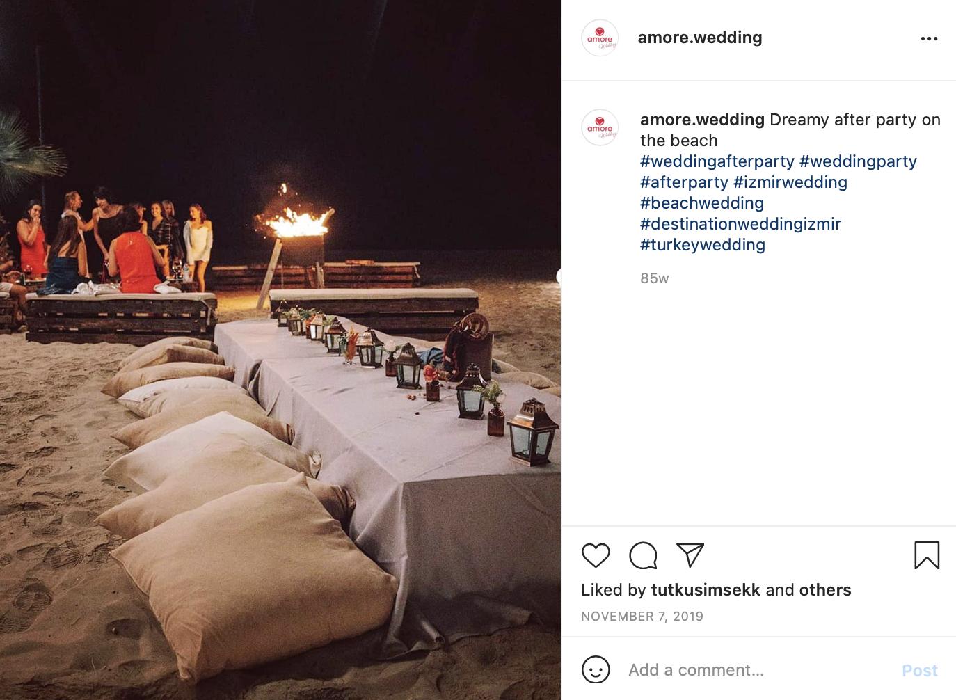 a beach party after a wedding