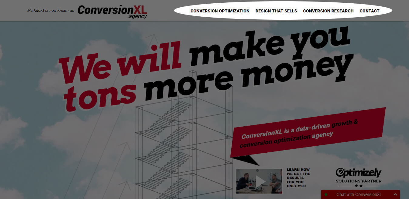 ConversionXL Agency Long-Form Sales Page Example