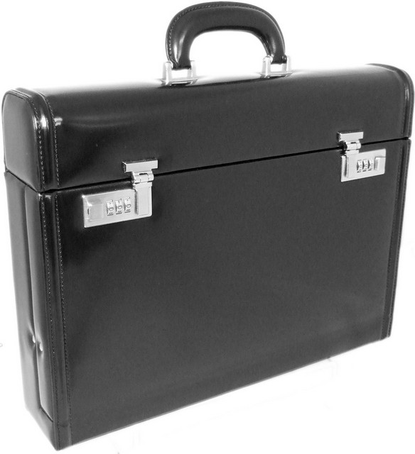 "Pratesi Radica Range Ghirlandaio 3.5"" Leather Attache Case"