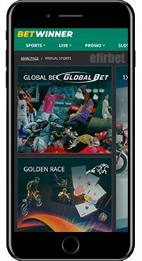 BetWinner virtual sports for iOS
