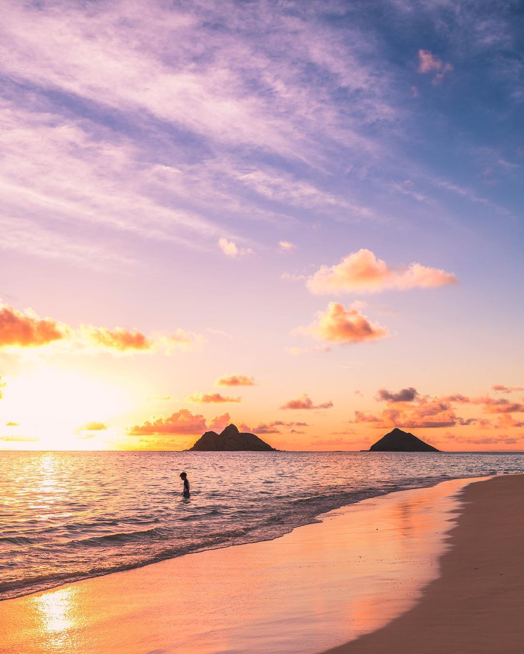 The incredibly beautiful and popular, Lanikai Beach. - 15 Best Beaches on Oahu