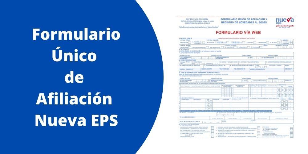 Formulario Único  de  Afiliación  Nueva EPS