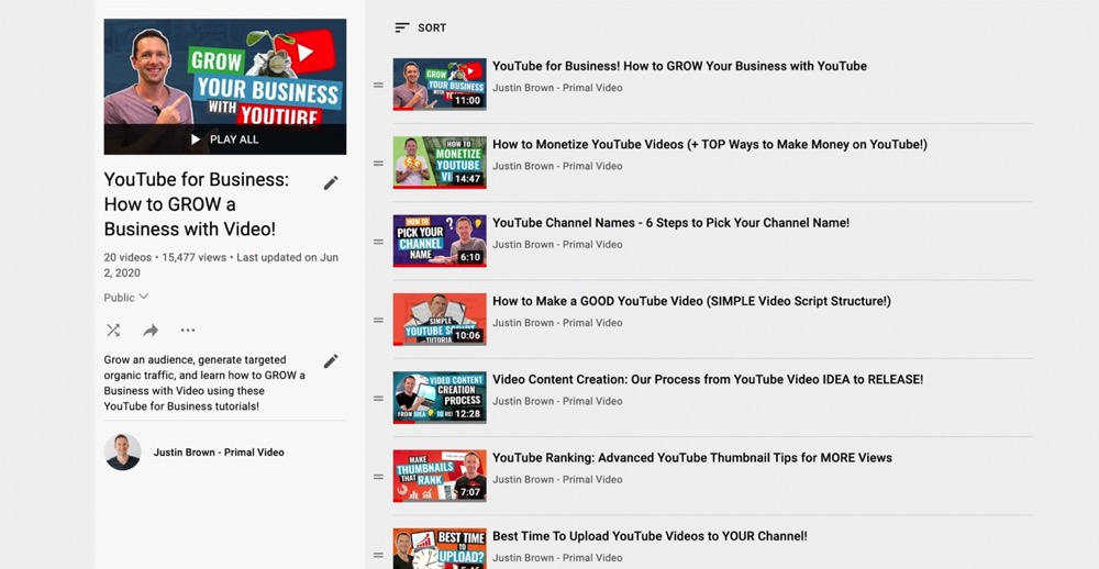 Create YouTube playlists to get more subscribers