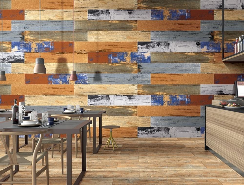 Gạch ốp tường ở các cửa hàng tạo sự độc đáo
