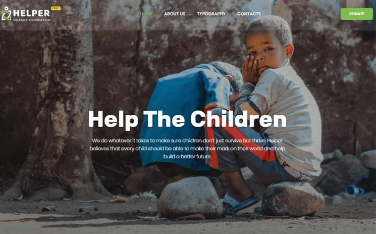 лучший бесплатный шаблон темы ботстрапа веб-сайт благотворительная организация помощь пожертвования