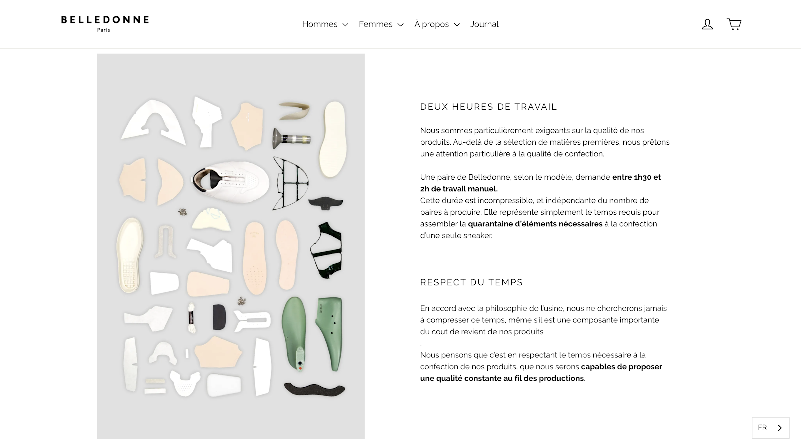 Multilingual Website Example: Belledonne product page