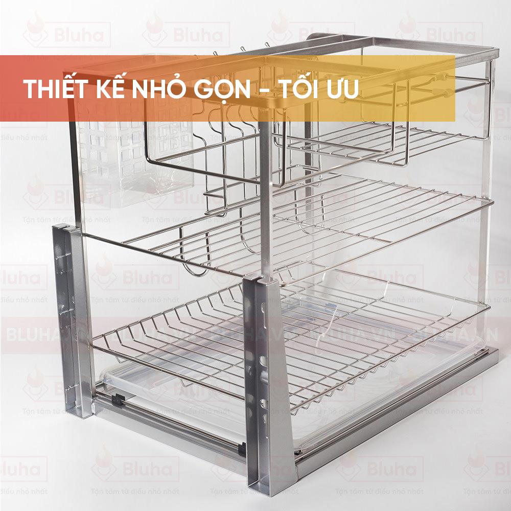 Thiết kế nhỏ gọn, tối ưu - Giá chai lọ dao thớt e.p40 - Phụ kiện bếp chính hãng