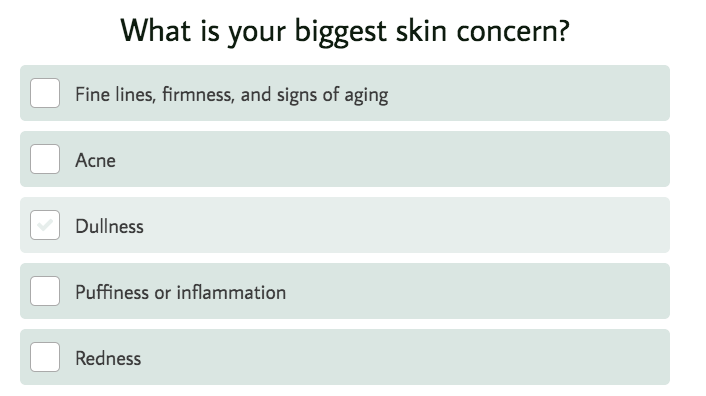 what's your biggest skin concern question