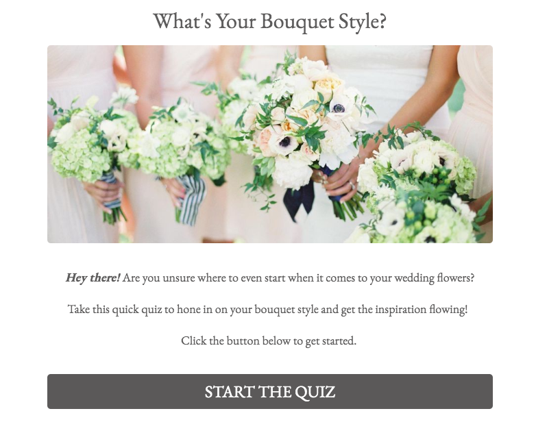 quiz cover for What's Your Bouquet Style