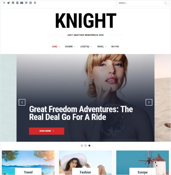 Knight Free WordPress Theme