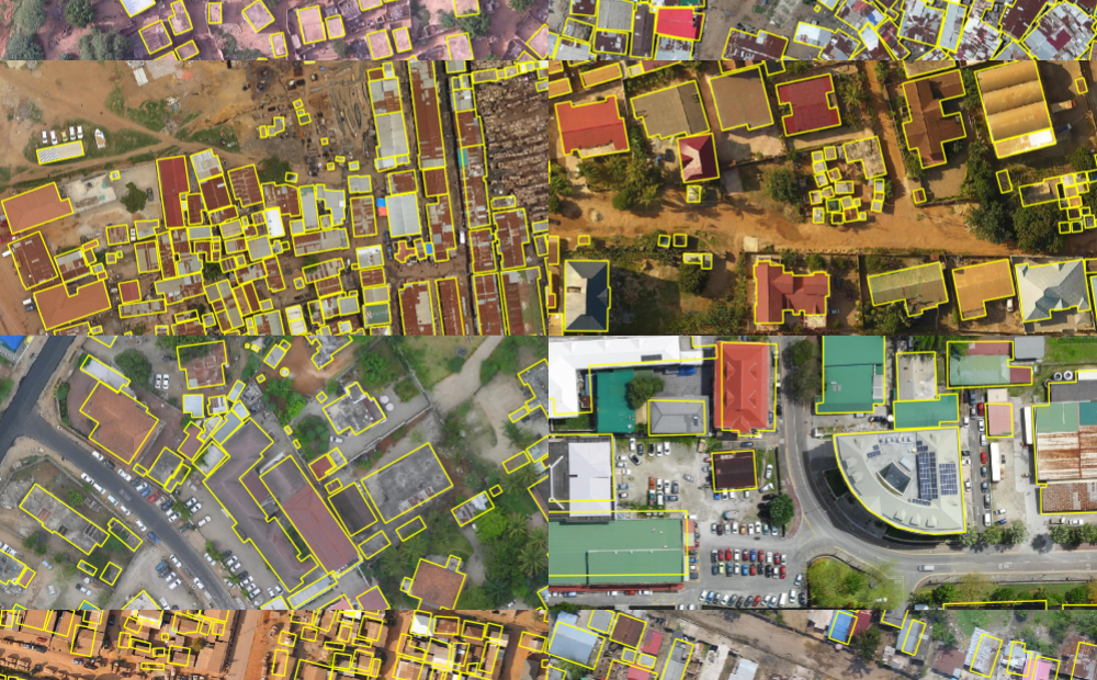 aerial images of cities in Africa
