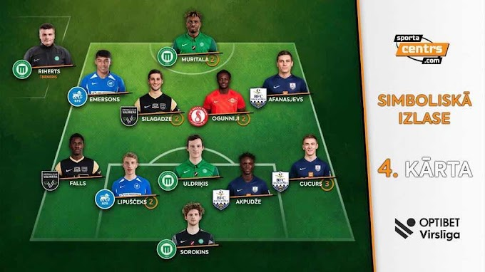 And Again, Ogunniyi Omojesu Makes Latvia Team Of The Week For Matchday Four