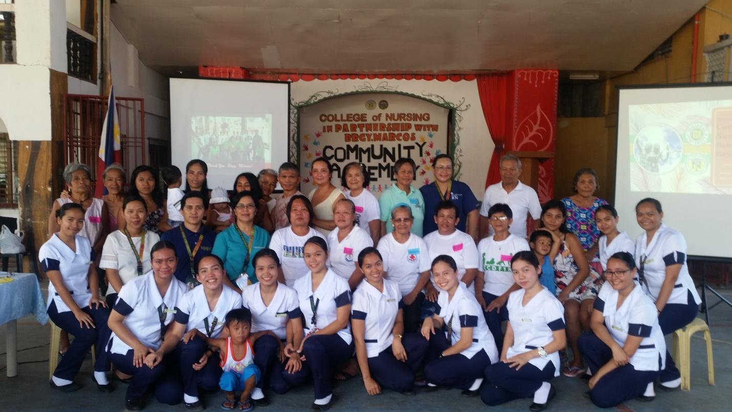 VSU Nursing Students Contact Culminating activity during Community Health Nursing exposure