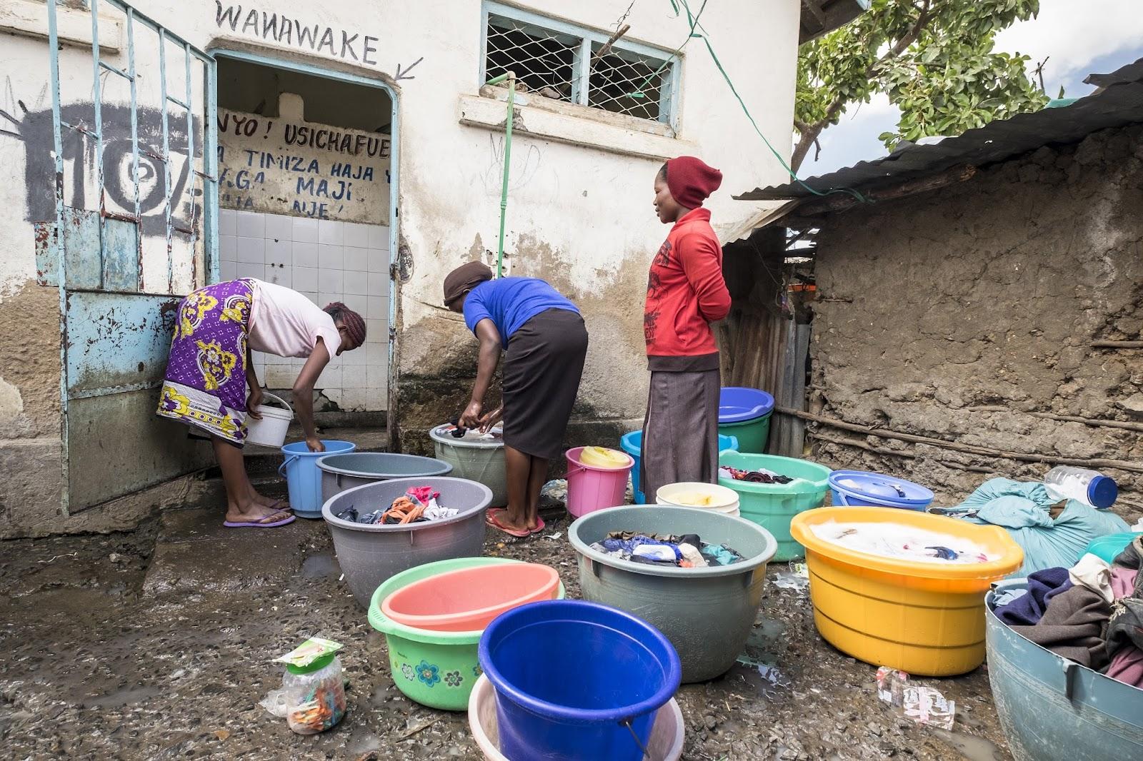 Public toilets and showers managed by Uprising Youth Group in Majengo slum, Pumwani, Nairobi - Kenya.