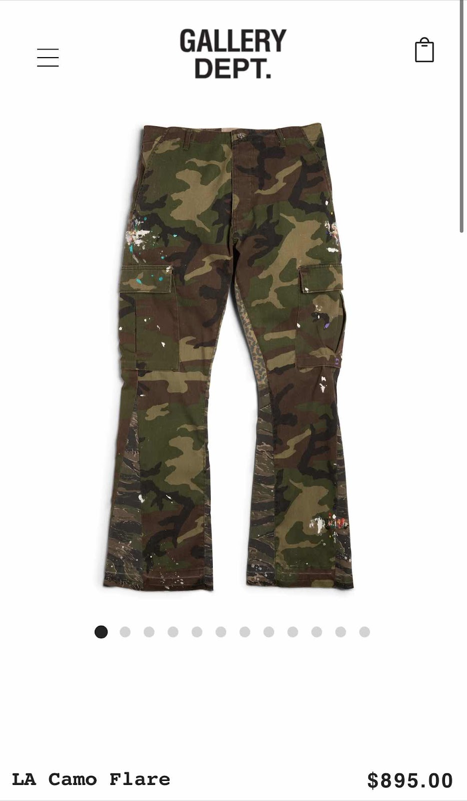 Current Obsession: Gallery Dept Camouflage Flare Jeans $895