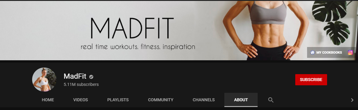 MadFit YouTube Channel