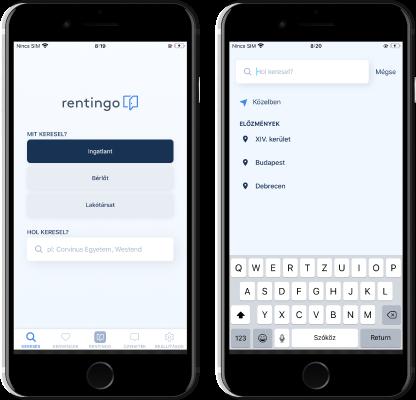 Rentingo mobilapp - Lokalizáció