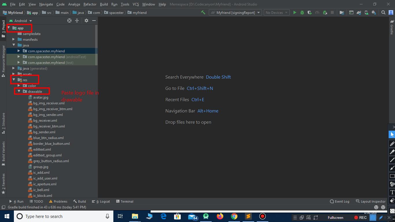 change Splash screen in facebook clone script