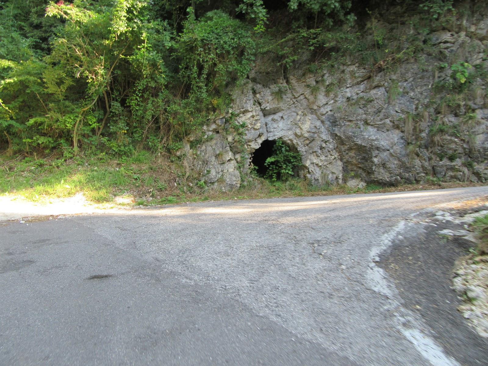 Biking Monte Grappa - Cavaso del Tomba - WW I tunnel