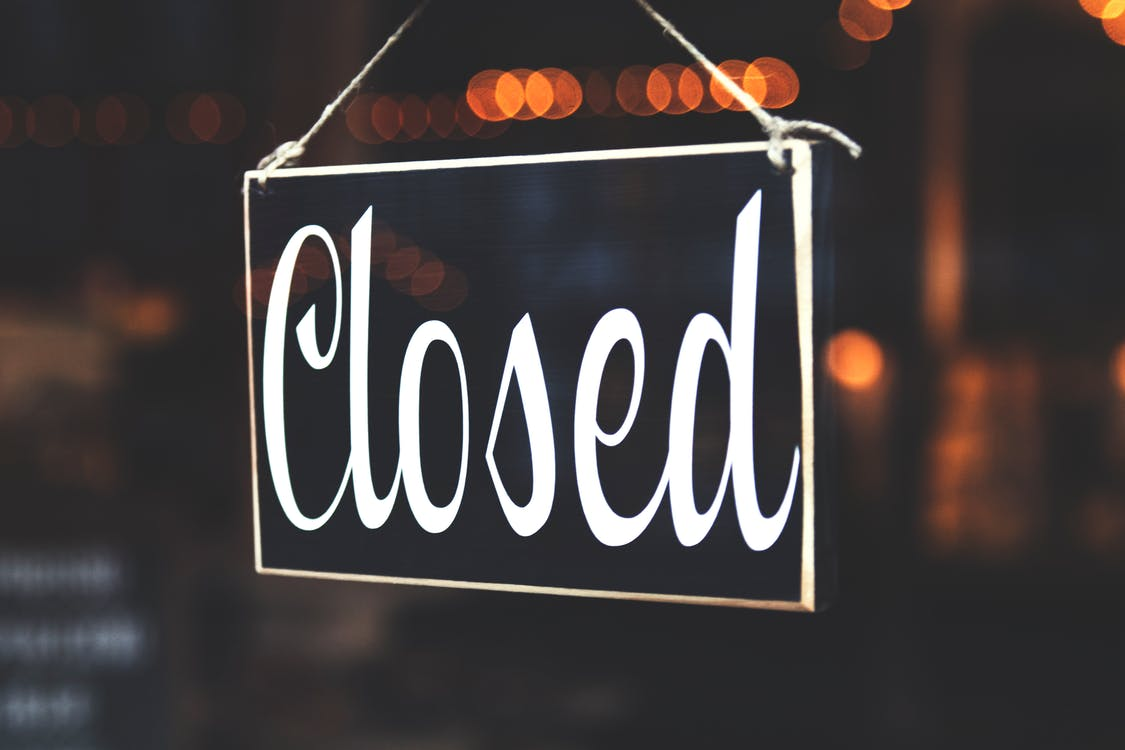 Selective Focus Photography of Closed Signage done with your business